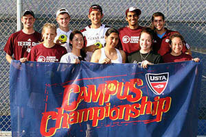 A&M Tennis Club Campus Champions