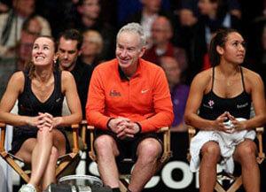 Martina Hingis, John McEnroe, Heather Watson