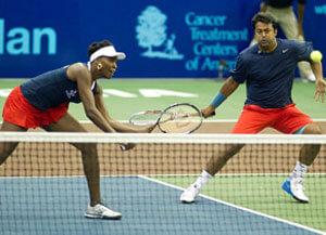 Venus Williams and Leander Paes